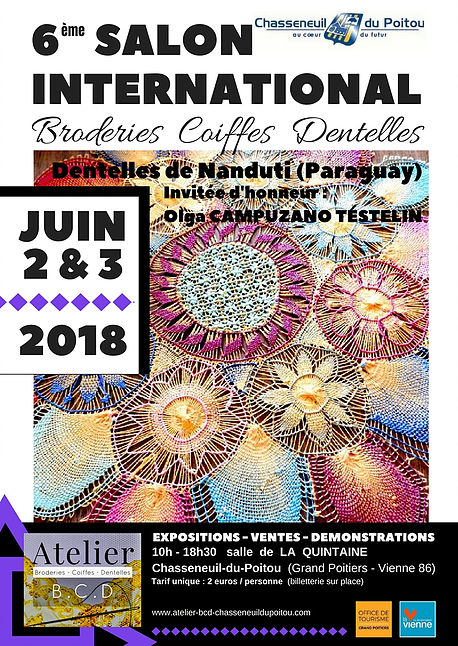6eme salon international broderies coiffes dentelles 2018 chasseneuil du poitou 1